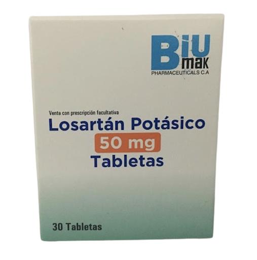 losartan potasico 50mg 30tabletas biumak pharmaceuticals