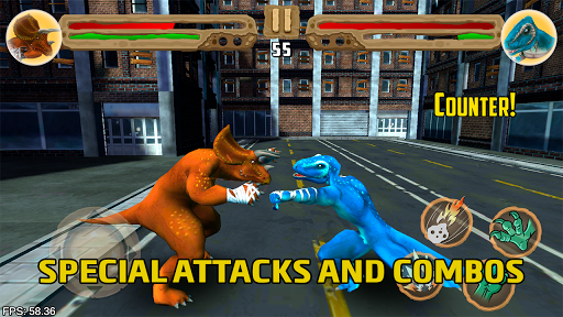 Dinosaurs fighters - Free fighting games 2.0 screenshots 1