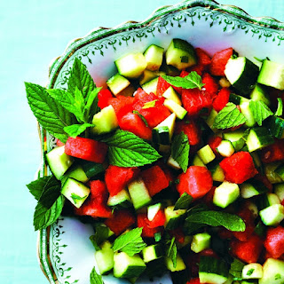 Watermelon and Cucumber-Mint Salad Recipe