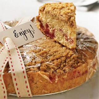 Strawberry Jam Crumb Cake.