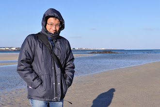 Photo: That is me! The beach was freezing cold.