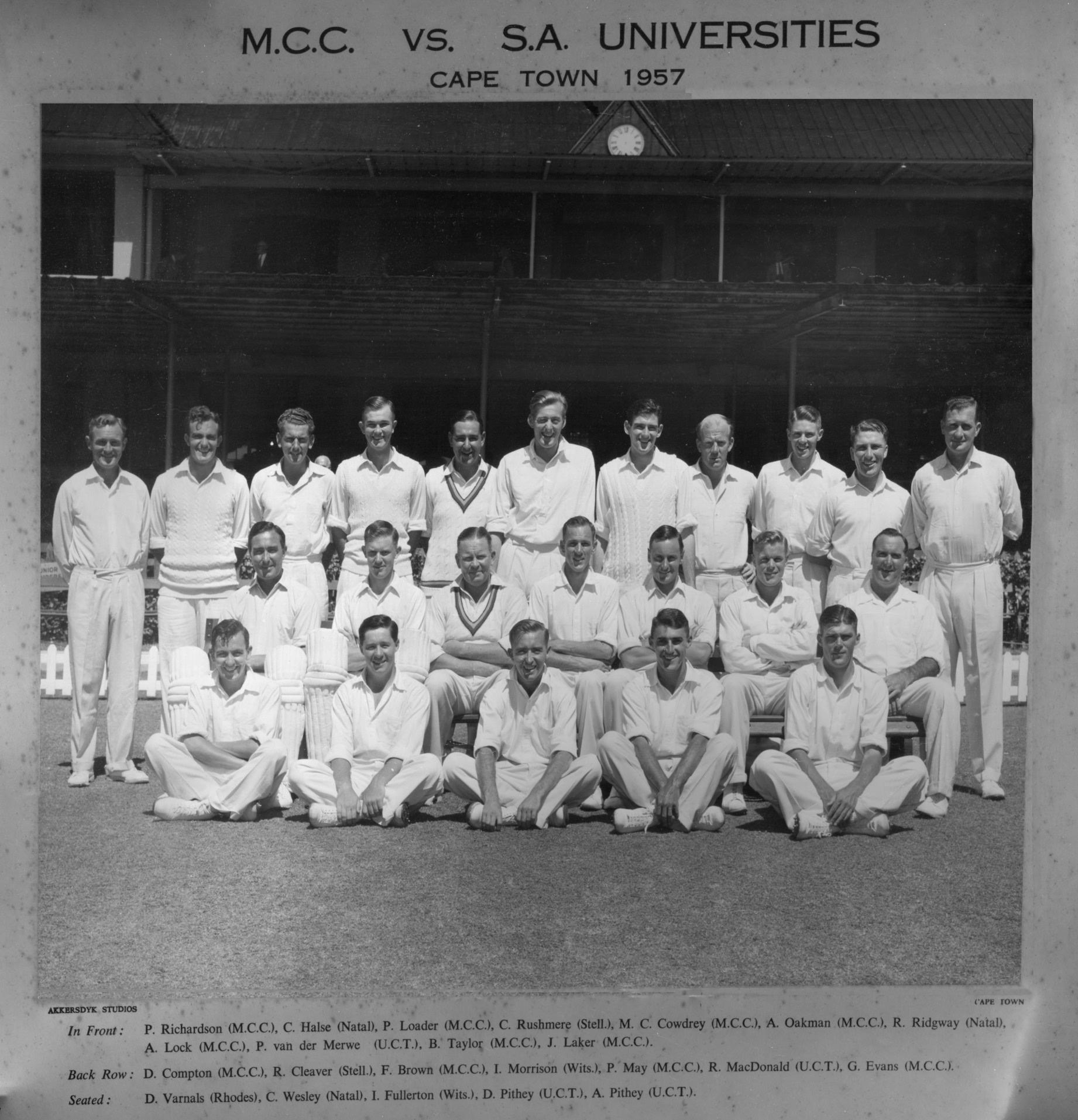 MCC vs SA Universities 1957