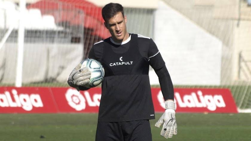 Fernando Martínez en el entrenamiento de este miércoles.