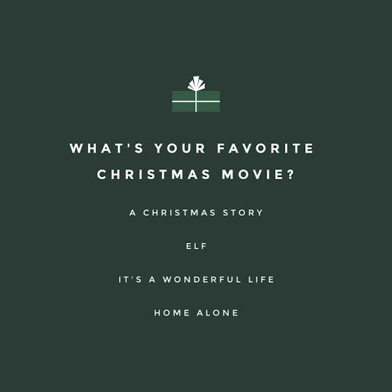 Favorite Christmas Movie - Christmas Template