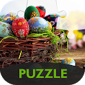 Puzzle with Easter icon