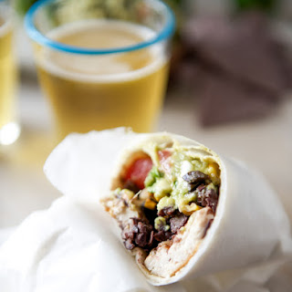 Tequila Lime Chicken and Black Bean Burritos.
