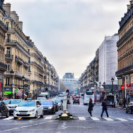Downtown Paris by Danny Hoang - City,  Street & Park  Street Scenes