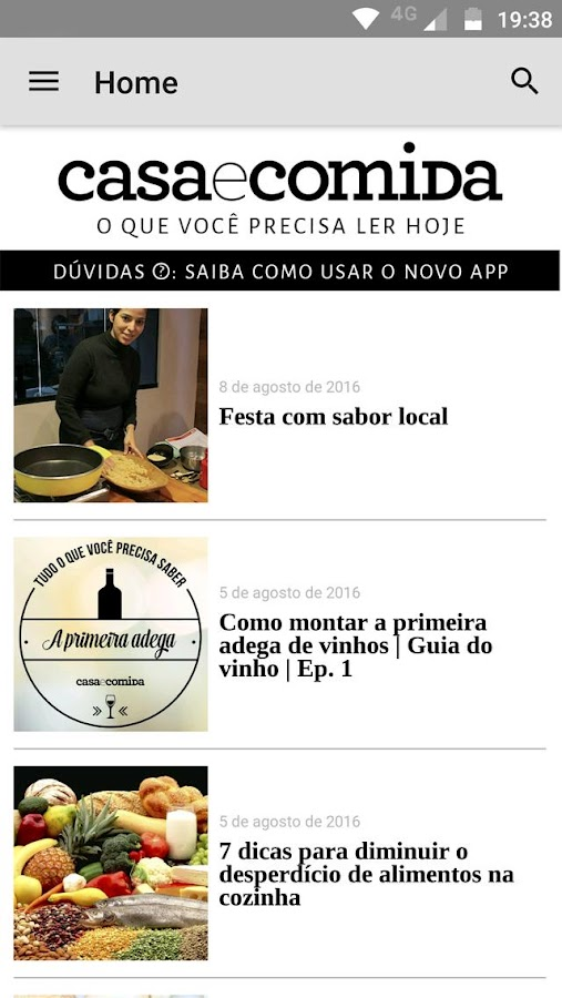 Revista Casa e Comida- screenshot