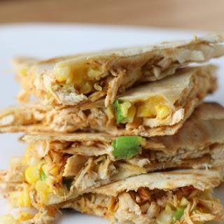 Grilled Chicken, corn & scallion Quesadilla's