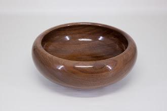 """Photo: William Flint 6"""" x 2 1/2"""" closed bowl [walnut]"""
