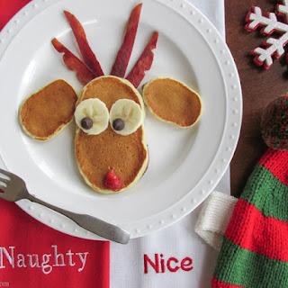 Reindeer Christmas Pancakes