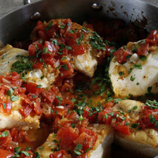 Cod Fillets Garlic Tomatoes Recipes