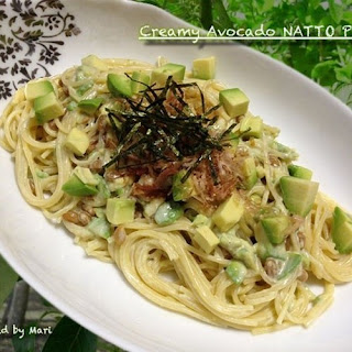 Creamy Avocado Natto Pasta