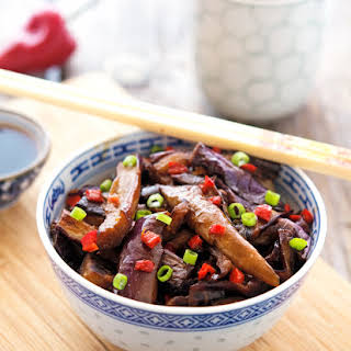 15-Minute Chinese Eggplant with Spicy Garlic Sauce.