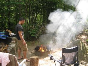 Photo: Campfire at Big Deer State Park by Matt Parsons