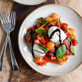 Honey Grilled Watermelon Caprese Salads