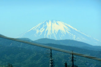 Photo: We pass Mt. Fuji traveling at 200 miles per hour