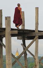 Photo: Year 2 Day 55 - Monk on U Bein's Bridge