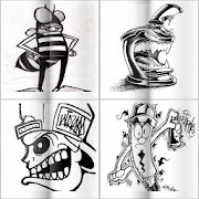 Graffiti Drawings in Pencil