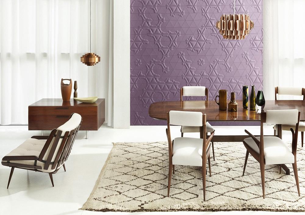 Padu Padan Dinding Material Kulit dengan Furnitur Kayu