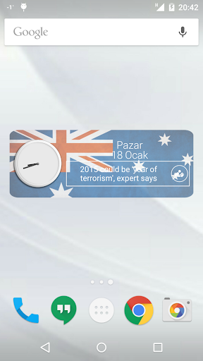 Australia Clock RSS Widget