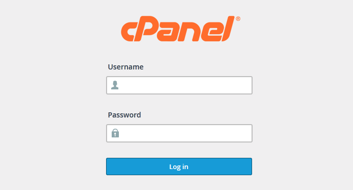Make a Photography Website with WordPress - cPanel Login
