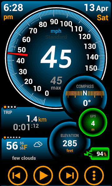 Ulysse Speedometer Pro Screenshot Image