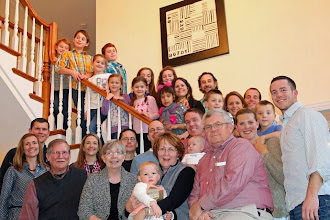 Photo: Mike '68 and Ruth Herron '74 Shasteen and family family with The Becks - Rick '70 and Pat Shasteen '70 Beck, Kristen Beck Sullivan '96, Nathan '98 and Karin Beck '99 Meyer and family