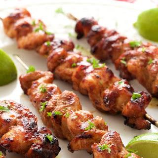 Peruvian Grilled Chicken Skewers.