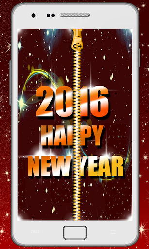 New Year Zipper Lock Screen