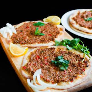 Turkish Lamb Lahmacun.