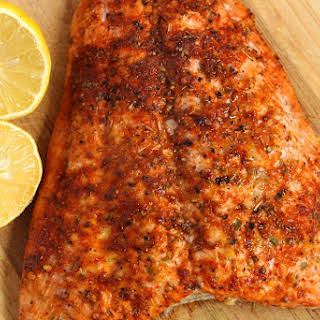 Cajun Baked Salmon.