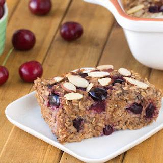 Cherry Pie Oatmeal Bake