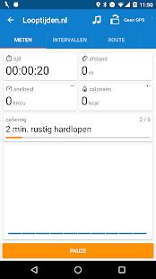 Looptijden.nl GPS hardloop-app Screenshot 1