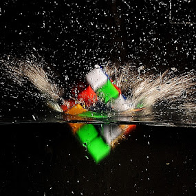Rubic Cube by Vineet Johri - Artistic Objects Toys ( water, splash, color, drop, cube,  )