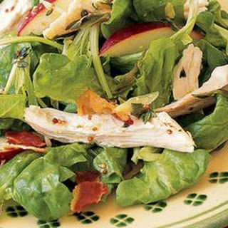 Warm Chicken Salad with Mustard-Thyme Vinaigrette