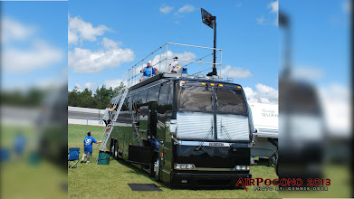Photo: Obie heads out Sunday morning and discovers all kinds of ways to camp at a NASCAR race.  This is *NOT* an Airstream