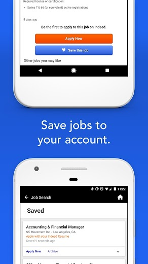 Screenshot 4 for Indeed's Android app'