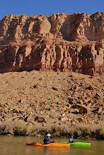 Photo: Canyon walls start to rise immediately