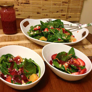 Spring Spinach and Strawberry Salad.
