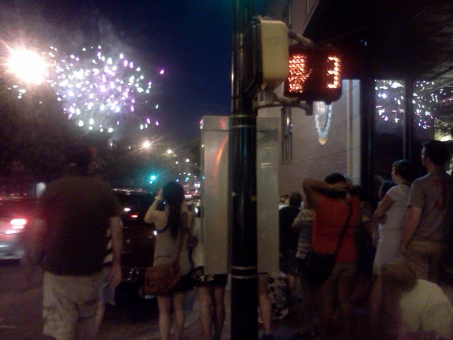 fireworks over Columbia