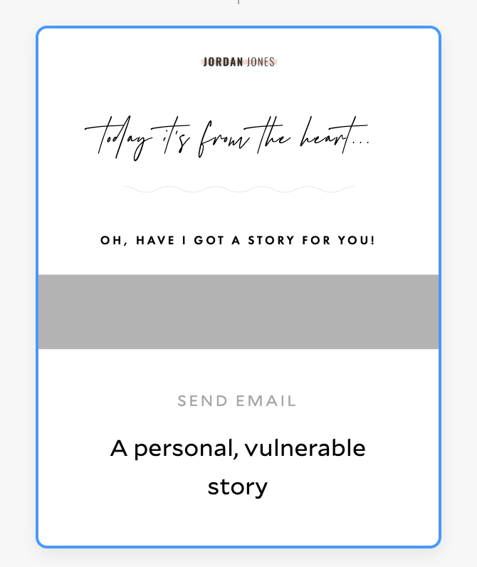 An example of a Flodesk email template