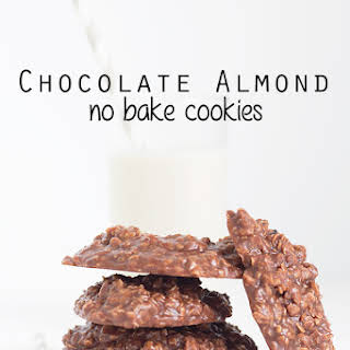 Chocolate Almond No Bake Cookies.