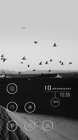 android Black Image about Birds Theme Screenshot 1