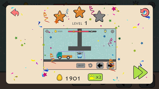 Dino Brain: Brain It On - Draw Physics Line apkpoly screenshots 18