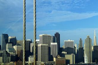 Photo: Shooting through the bridge cables