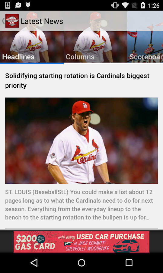 BaseballStL St. Louis Baseball- screenshot