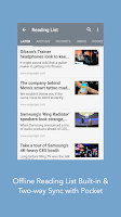 Screenshot of Mercury Browser for Android