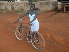 Photo: Erica is an 18 year old Junior High School graduate, and now works on her mom's farm which is 2km away from their home. She shares the bike with her brother who also helps on the farm sometimes