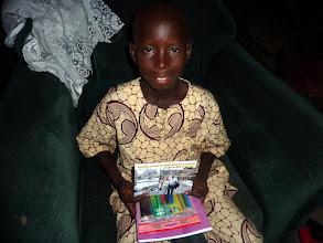 Photo: et son frère Justin, 9 ans, en CE1, le sera aussi. merci pour les cadeaux !